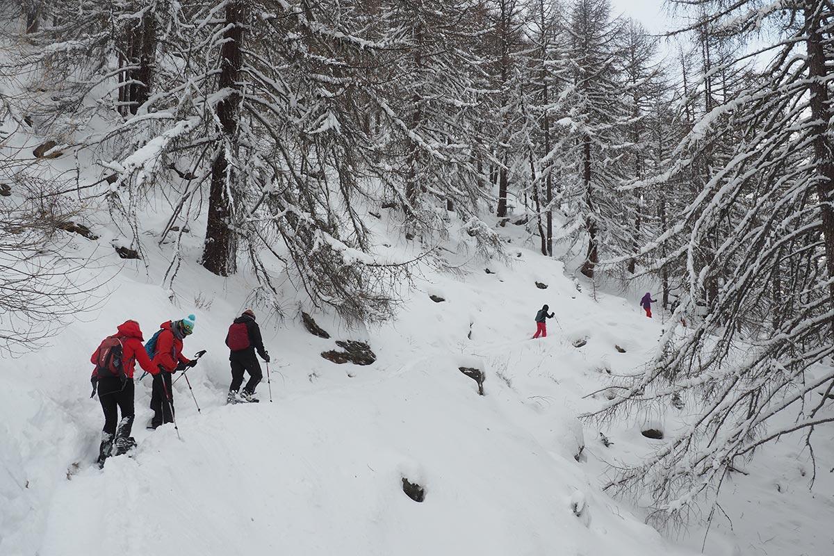 Raquetes de neu a Saas Fee
