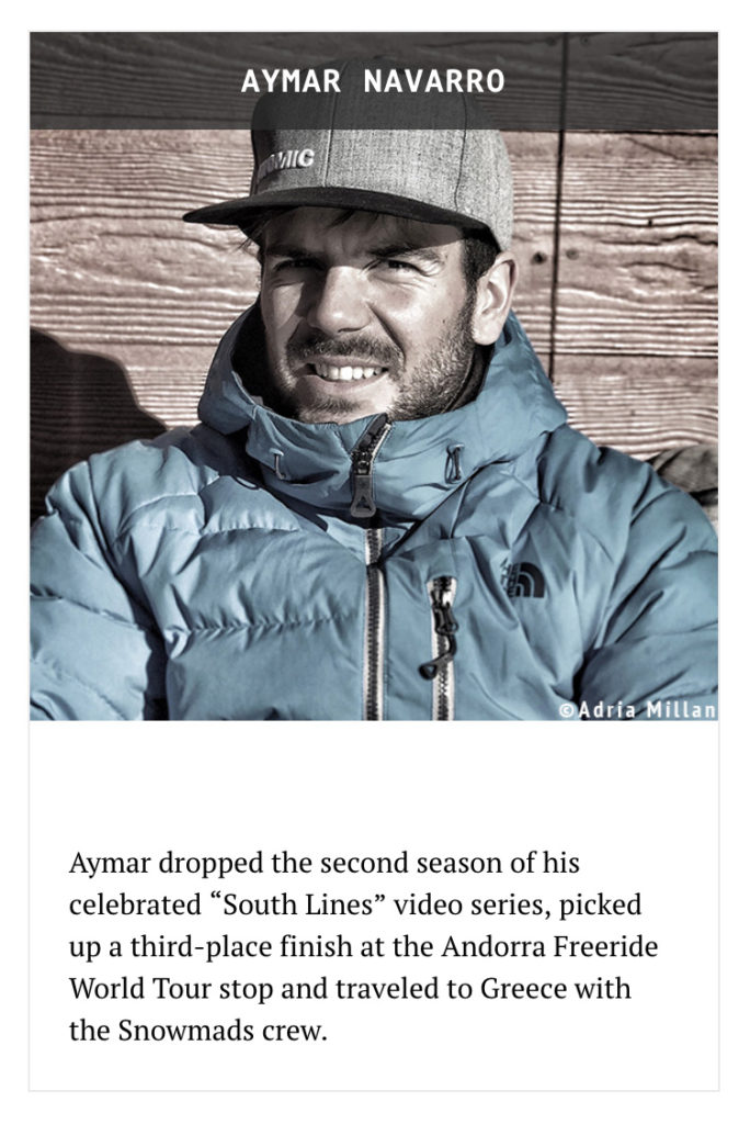 Aymar Navarro, nominat a European Skier of the Year