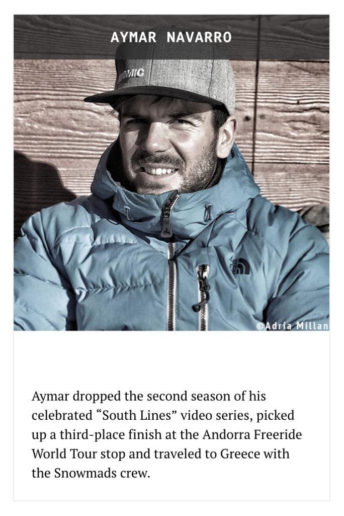Aymar Navarro, nominat a European Skier of the Year