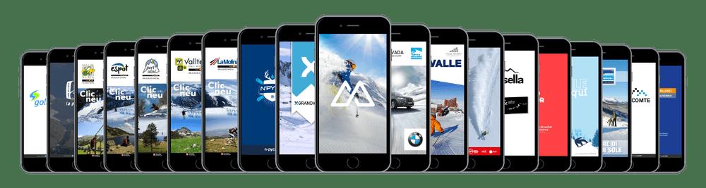 Skitude apps a les diferents estacions s'esquí