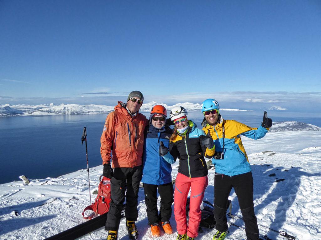 esquiant a noruega amb Xavi Llongueras