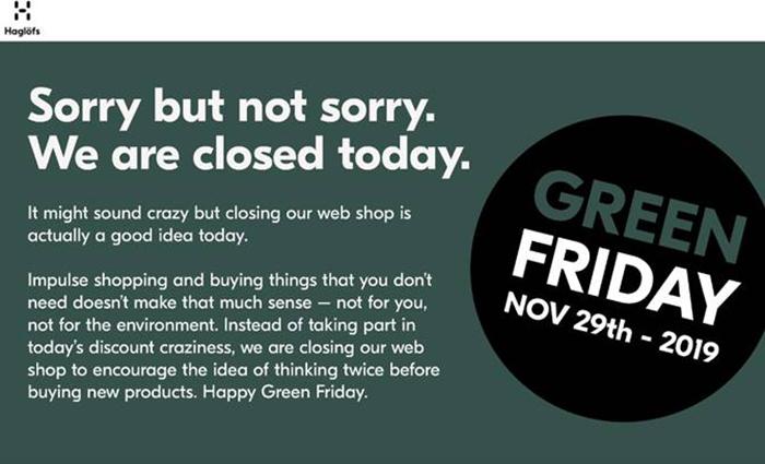 Haglöfs tanca la seva botiga online durant el Black Friday