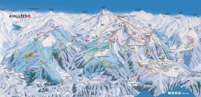 Mapa de pistes de Nendaz