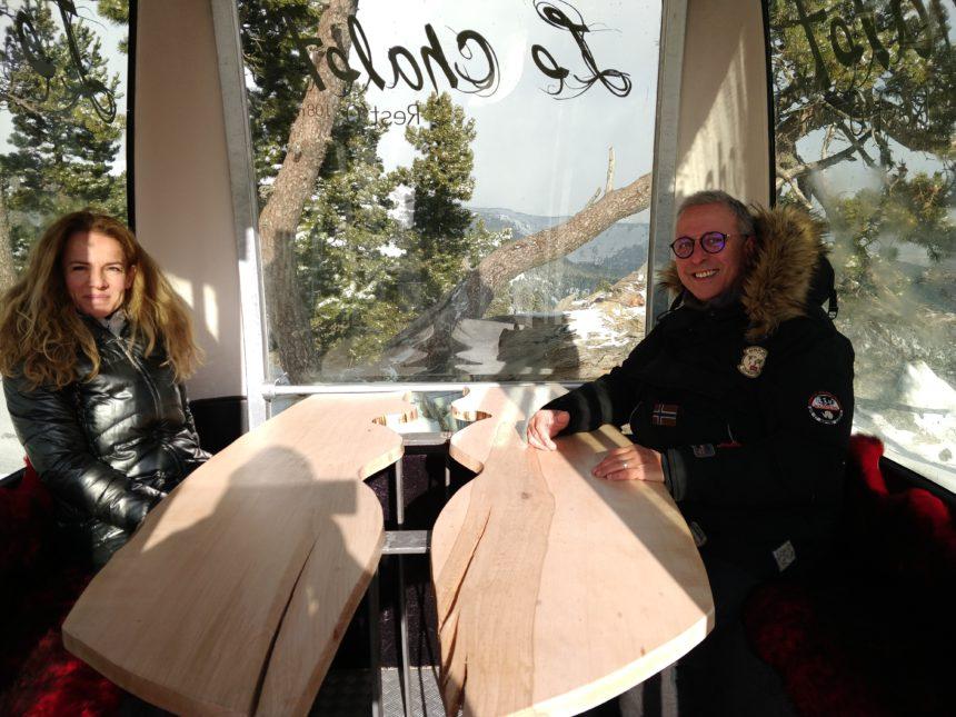L'Helen Bier i en Jean Parent, els socis del Xalet de Les Angles