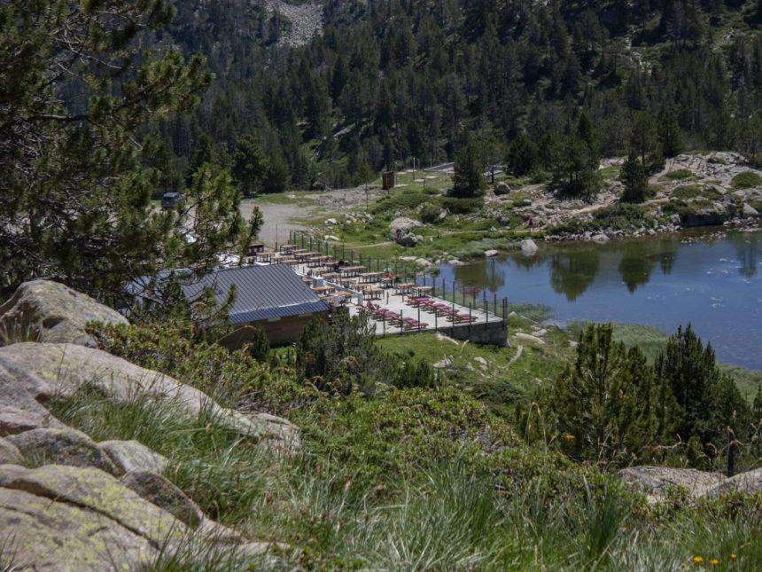 El restaurant de Pessons i el llac, paratges fantàstics!